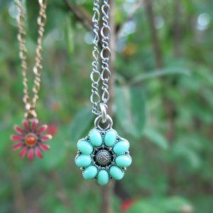 Lucky Brand Double Stranded Floral Necklace